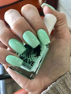 Slightly Tapered Square Mint Acrylic Nails – SEO Life Mint Acrylic Nails, Square Acrylic Nails, Acrylic Nail Art, Acrylic Nail Designs, Mint Green Nails, Mint Nails, Bright Nails, Nails Gelish, Gel Nails