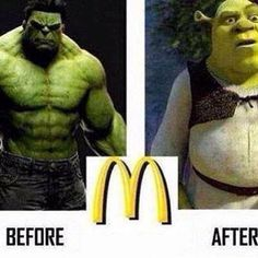 When Hulk has McDonalds  // funny pictures - funny photos - funny images - funny pics - funny quotes - #lol #humor #funnypictures