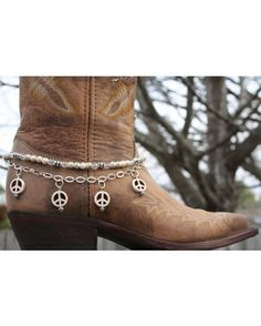 Peace Love and Happiness wishes for 2013  - Boot Candy Naturals,  White Howlite Peace