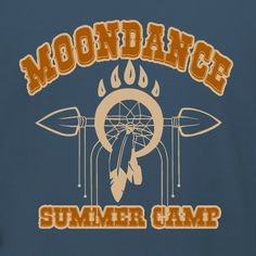 Moondance Summer Camp t-shirt design template. Customize for your summer camp online or design your own. Uploade images, use fonts, colors, and choose your t-shirt product. Free 10-day delivery in the U.S.
