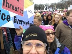 A privileged white woman attends women's march in Washington to protest Trump policy, and apologizes for being late to the anti-racism party.