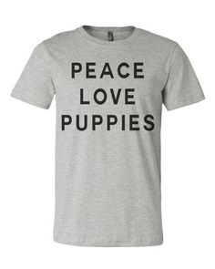 Dog Lovers Peace Love Puppies Men's T Shirt
