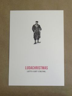 """""""Ludachristmas"""" add rapper Ludacris Happy Holidays / Tacky  Ugly Sweater Party / Merry Christmas / Funny Vintage Ghetto Custom Printed by Darby Cards. $2.00, via Etsy.  - popculturez.com"""