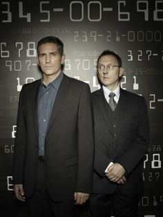 Still of Jim Caviezel and Michael Emerson in Person of Interest. Loveee this show!