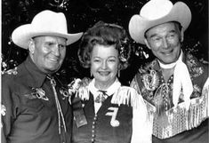 rodeo gene autry | Gene Autry, Dale Evans and Roy Rogers at the Hollywood Christmas ...