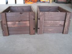Crates sanded down a little and distressed.