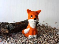 Fox Needle Felted Soft Sculpture
