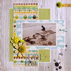 1 photo single page layout by Stephanie Hart