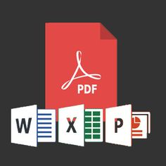 This is the best way and simple tool for both PC and MAC to convert pdf files to Microsoft Word, Power Point and Excel.
