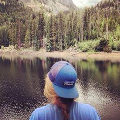 Girl rockin a Patagonia hat