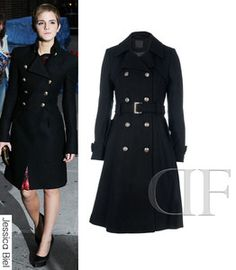 New Womens Fashion Wool Blend Winter Noble Long Belted Trench Coat ...