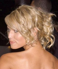 Jessica Simpson Short Hair Updo - Side View