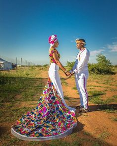 Check out beautiful South African bride looking all sorts of amazing in her modern Xitsonga wedding dress by - - African Prom Dresses, African Fashion Dresses, African Dress, African Style, African Traditional Wedding Dress, Traditional Wedding Attire, African Wedding Attire, African Attire, South African Wedding Dress