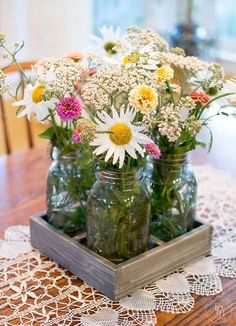 Show off your mason jars in this DIY tray that fits them perfectly!