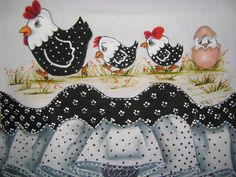 Tole Painting, Fabric Painting, Chicken Quilt, Chicken Pictures, Chickens And Roosters, Hens And Chicks, Painted Pots, Rock Crafts, Applique Patterns