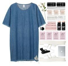 """""""guns and roses..."""" by cinnamon-and-cocoa ❤ liked on Polyvore featuring Monki, OKA, Love 21, NARS Cosmetics, Elie Saab, T3, Hershesons and Lalique"""