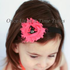 Hot Pink Black Witch Hat Headband - Little Girls Spooky Crooked Hat Hairbow - Halloween Baby Girl Toddler Hair Bow Hair Accessories by OnceUponATimeTuTus on Etsy