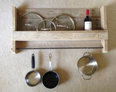 hanging pots and pans on wall DIY - Google Search