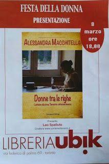 """TARAStv: """"DONNE TRA LE RIGHE""""  DI ALESSANDRA MACCHITELLA"""
