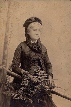 Widow in the Ferns, Albumen Cabinet Card, Circa 1885 | Flickr - Photo Sharing!