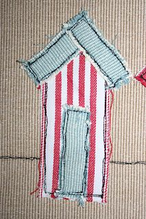 redneedle sewing: scrappy beach huts (maybe for cocktail napkins)