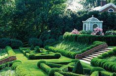 White Gazebo | Intricate Landscape | Yard Elevation | Garden Ideas | Landscape Design