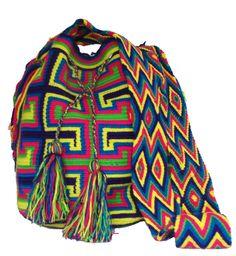 www.mochilaswayuu... www.facebook.com/Wayuuuuuu www.etsy.com/... ASK FOR OUR WHOLESALE PRICES whatsapp :+57 3203459226 $43 USD #wayuu #crochet #handmade #crochet #boho #bohostyle #bohochic #hippie #cartagena #colombia #colombiabags #art #wayuutribe #mochilaswayuu #mochilas#psychedelic#beachbag #Desertbag Tapestry Bag, Tapestry Crochet, Mochila Crochet, Crochet Bags, Tribal Bags, Boho Fashion, Boho Chic, Crochet Patterns, Sweaters