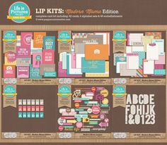 LIP KIT: Modern Mama Edition - Printable cards for your Project Life album #dad #projectlife