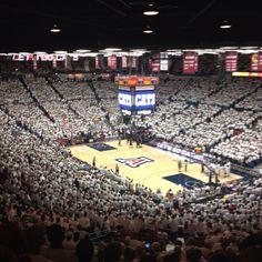 Arizona Wildcats whiteout, McCale Center basketball stadium, Tucson, Arizona