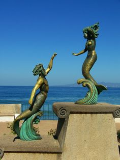 Puerto Vallarta, Mexico... Pretty sure there's an old pic from when I was little next to this statue