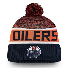 new style 5b067 14fe3 Men s Edmonton Oilers Fanatics Branded Navy Authentic Pro Rinkside Goalie - Cuffed  Knit Hat With Pom, Your Price   29.99 CAD