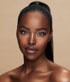 Make Up Kits, Makeup Set, Makeup Looks, Brows, Eyeliner, Everyday Eye Makeup, Brown Skin, Dark Brown, Big Lips