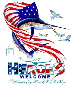 2019 Heroes Welcome art by Guy Harvey - Bing Images  Beautiful art for a great event.