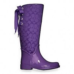 ohhh dear lord help me! Coach Ribbon Rainboots - New for Spring
