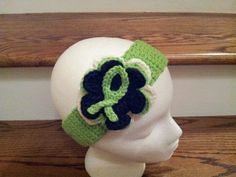 Support Lymphoma Cancer...crochet flower headband, created by Danita