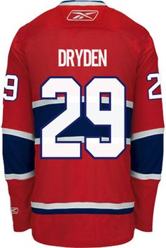 76fa237273e ... Montreal Canadiens VINTAGE Ken DRYDEN 29 Official Home Reebok Premier  Replica NHL Hockey Jersey ...