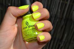 China Glaze Yellow Polkadot Bikini