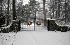 Amazing Gates Driveway Gate during the Holiday Season