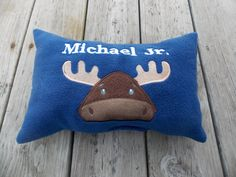 Personalized Moose Pillow Woodland Nursery by Crafting4Caleb