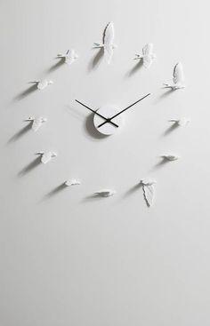 Haoshi Swallow Clock -light gray