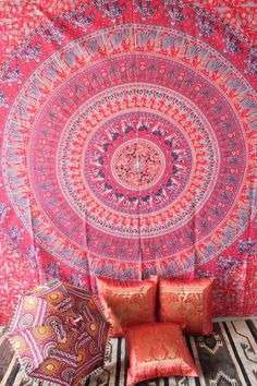 Hippie Tapestry mandala tapestry Wall Hanging by craftozone