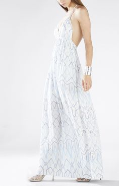 Kamala Long-Tie Halter Dress