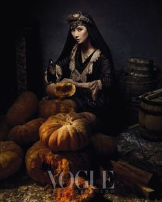 """""""Beautiful Witch"""" in Vogue Korea. Who would think this magazine would have such images....ah yes Korea. <3"""