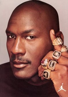 Hmmm.MJ and his six championship rings!