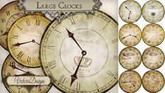 Large Printable Vintage Clocks
