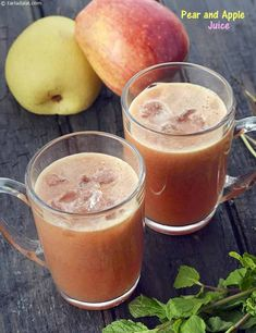 Pear and Apple Drink, Pear and Apple Juice recipe, Healthy Juices Recipes Healthy Juice Recipes, Easy Smoothie Recipes, Healthy Juices, Apple Recipes, Ic Recipes, Chicken And Shrimp Recipes, Apple Juice, Fruits And Veggies, Recipe Using