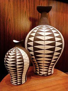 Thomas Toft, vases, 1950s.