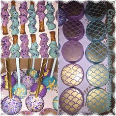 Another view of the Mermaid treats ✨Rolkem Super gold and scale stencil from Mermaid Theme Birthday, Little Mermaid Birthday, Little Mermaid Parties, Baby Birthday, Mermaid Baby Showers, Baby Mermaid, Under The Sea Theme, Under The Sea Party, 9th Birthday Parties