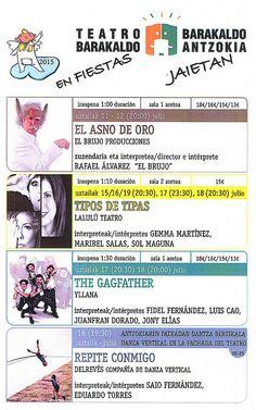 Teatro Barakaldo. Fiestas de Barakaldo 2015 #teatro #barakaldo #programacion #actos #fiestas