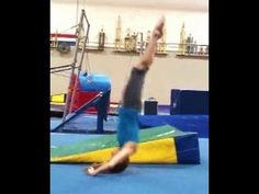 ▶ Back Extension Rolls (Bent And Straight Arm) With Coach Meggin (Professional Gymnastics Coach) - YouTube
